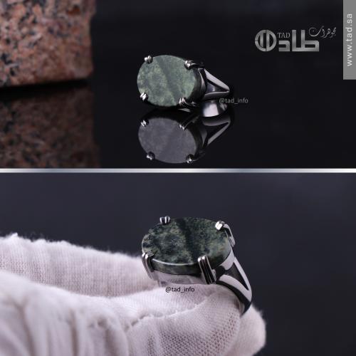 خاتم تفصيل حجر المرمر الطبيعي